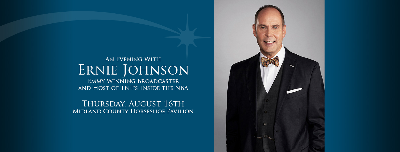 Save the Date Postcard for An Evening With Ernie Johnson Web graphic
